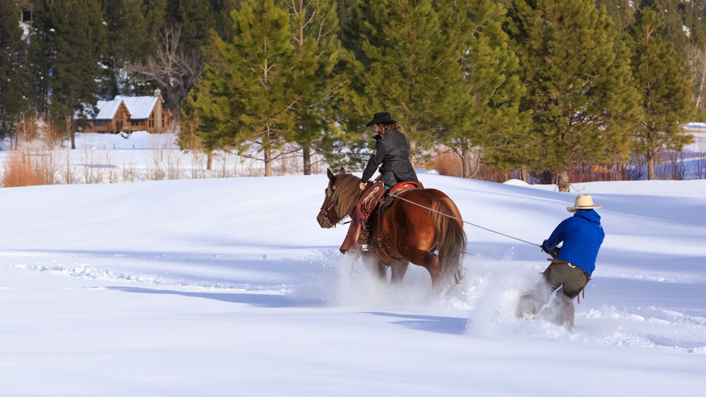 Triple Creek Montana Skijoring